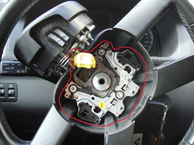syst me de fixation airbag volant avec ses cable et les 3vis torx. Black Bedroom Furniture Sets. Home Design Ideas